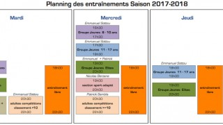 Horaires 2017-2018